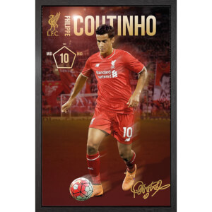 Liverpool Coutinho 15/16 - 61 x 91.5cm Framed Maxi Poster