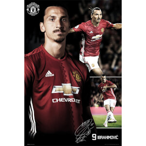 Manchester United Ibrahimovic Collage 16/17 - 61 x 91.5cm Maxi Poster