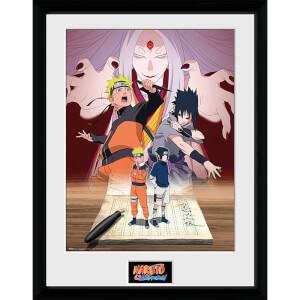 Naruto Shippuden Naruto and Sasuke - 16 x 12 Inches Framed Photograph