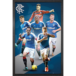 Rangers Players 15/16 - 61 x 91.5cm Framed Maxi Poster