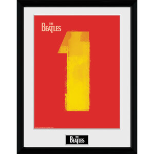 The Beatles No. 1 Red - 16 x 12 Inches Framed Photograph