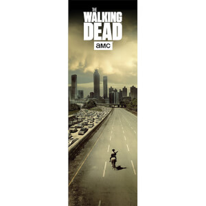 The Walking Dead City - 53 x 158cm Door Poster