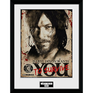 The Walking Dead Daryl Needs You - 16 x 12 Inches Framed Photograph
