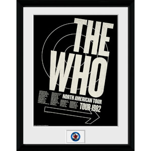 The Who Tour 82 - 16 x 12 Inches Framed Photograph