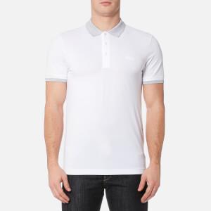 BOSS Green Men's Paule Collar Detail Polo Shirt - White