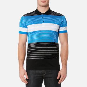 BOSS Green Men's Paddy 3 Striped Polo Shirt - Black