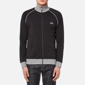 BOSS Hugo Boss Men's Small Logo Zip Through Sweatshirt - Black