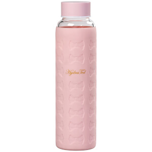 Ted Baker Pink Glass Water Bottle with Silicone Sleeve