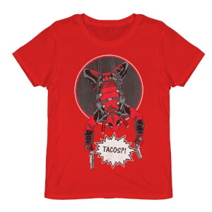 Deadpool Did Someone Say Tacos? Red T-Shirt