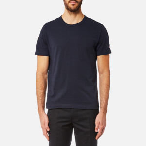 Champion Men's Basic Sleeve Logo Short Sleeve T-Shirt - Navy