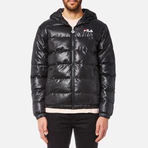 FILA Blackline Men's Owen Hooded Puffa Jacket - Black