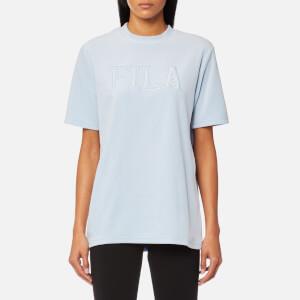 FILA Blackline Women's Olivia Oversize Velour Logo T-Shirt - Skyway