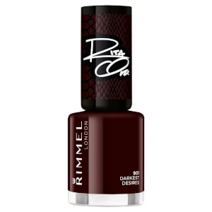 Rimmel 60 Seconds Rita Shades of Black Nail Polish - Black Red 901 8ml
