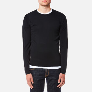 John Smedley Men's Lundy 30 Gauge Extra Fine Merino Crew Neck Jumper - Black