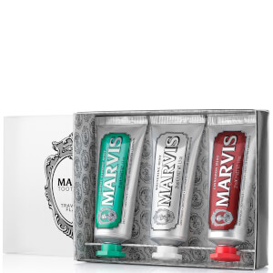 Pack de tres pastas de dientes Travel Flavour de Marvis (3 x 25 ml)