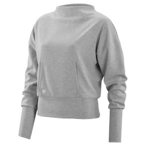 Skins Activewear レーディス Wireless Sport Crew Neck Fleece - Silver/Marle