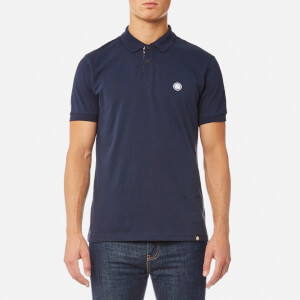 Pretty Green Men's Tendale Short Sleeve Polo Shirt - Dark Blue