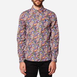 Pretty Green Men's Lescott Long Sleeve Paisley Shirt - Vintage Paisley