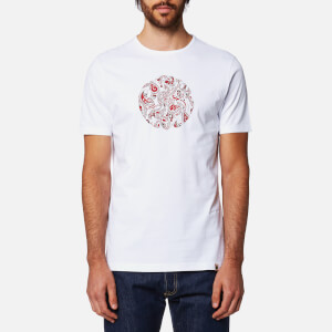 Pretty Green Men's Thornley Paisley Logo T-Shirt - White
