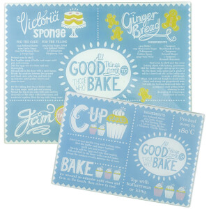 Mason Cash Bake My Day Set 2 Work Surface Protectors (Free Gift)