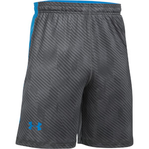 Under Armour Men's Raid Printed 8 Inch Shorts - Grey/Blue