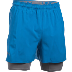 Under Armour Men's Qualifier 2-in-1 Shorts - Blue