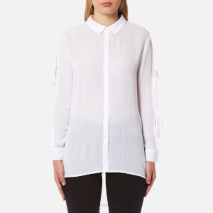 MINKPINK Women's Tie Sleeve Shirt - Off White