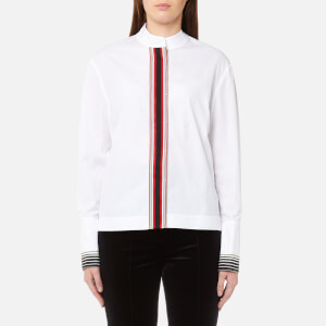 Diane von Furstenberg Women's Long Sleeve Collared Button Down Top - White