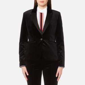 Diane von Furstenberg Women's Velvet Blazer - Black