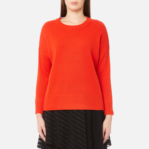 Diane von Furstenberg Women's Long Sleeve Crew Neck Knit Pullover Jumper - Bright Red