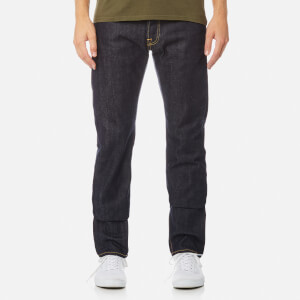 Edwin Men's Ed-55 Regular Tapered Rainbow Selvage Denim Jeans - Unwashed