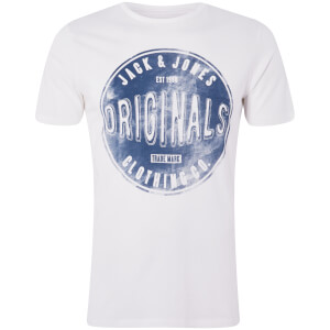 T-Shirt Homme Originals Stood Jack & Jones - Blanc