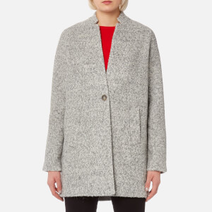 Joules Women's Woolsthorpe Boucle Wool Coat - Grey