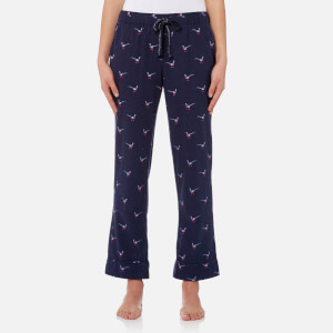 Joules Women's Snooze Woven Pyjama Bottoms - French Navy Pheasant