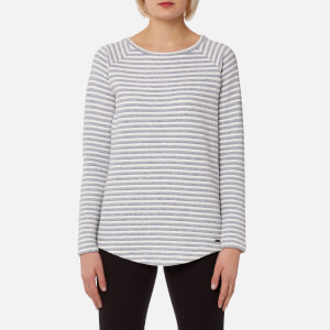 Joules Women's Liloustripe Textured Sweatshirt with Zips - Grey Stripe