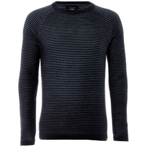 Jack & Jones Core Men's Wind Rib Knitted Jumper - Sky Captain