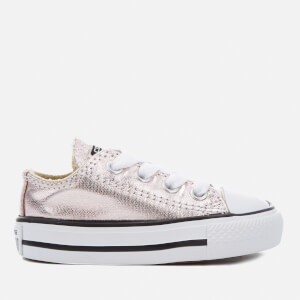 Converse Toddlers' Chuck Taylor All Star Metallic Ox Trainers - Rose Quartz/White/Black
