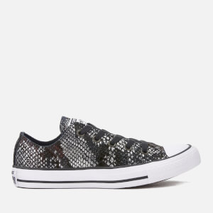 Converse Women's Chuck Taylor All Star Ox Trainers - Black/Black/White