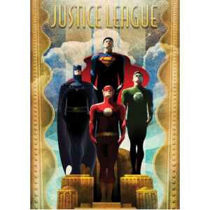 DC Comics Metal Poster - Justice League Retro Idols (32 x 45cm)