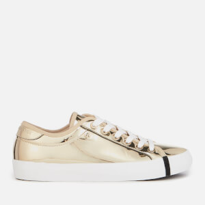 Armani Exchange Women's Chrome Look Low Top Trainers - Oro