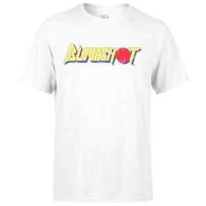 Camiseta Valiant Comics Bloodshot Logo Clásico Desgastado - Hombre - Blanco