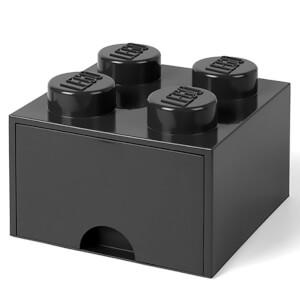 Ladrillo de almacenamiento LEGO (4 espigas) - 1 cajón - Negro