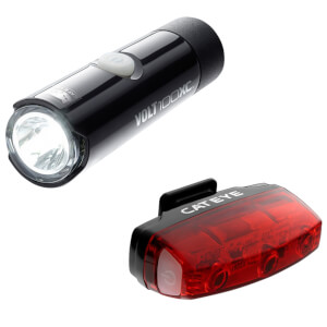 Cateye Volt 100 Front and Rapid Micro Rear USB Light Set