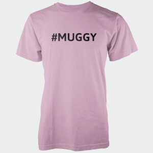 Hashtag Muggy Men's Pink T-Shirt