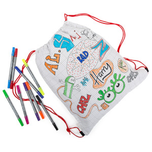 eatsleepdoodle Backpack with 10 Wash-Out Pens