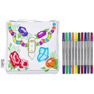 Doodle Designer Accessory Bag with 10 Wash Out Pens