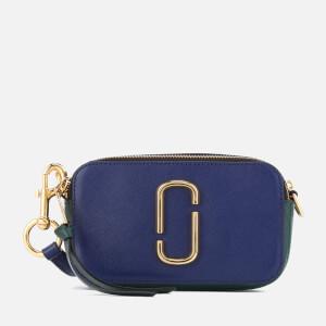 Marc Jacobs Women's Small Snapshot Cross Body Bag - Dark Blue Multi