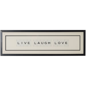 Vintage Playing Cards Live Laugh Love Framed Wall Art
