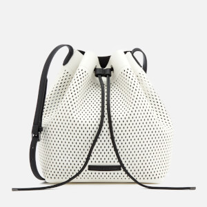 Armani Exchange Women's Perforated Bucket Bag - White/Black