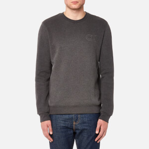 Calvin Klein Men's Kapler Chest Logo Sweatshirt - Asphalt Heather
